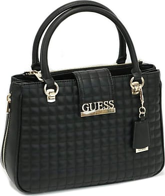 Guess MATRIX LUXURY SATCHEL Womens Bags, BLACK, One Size