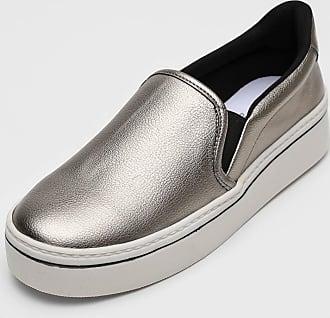 Dumond Slip On Flatform Dumond Metalizado Prata
