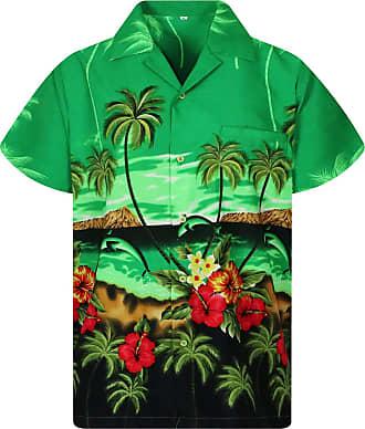 V.H.O. Funky Chemise Hawaienne,dauphin, green, XXL