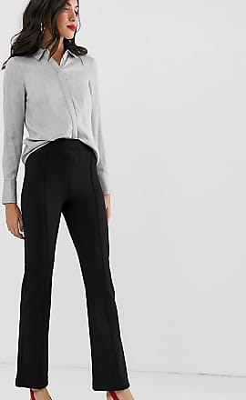 Y.A.S. Tall flared trouser with seam detail-Black