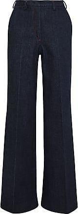 Roberto Cavalli Roberto Cavalli Woman High-rise Wide-leg Jeans Dark Denim Size 40