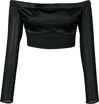 Kiki De Montparnasse Cage off-shoulder cropped top - Black