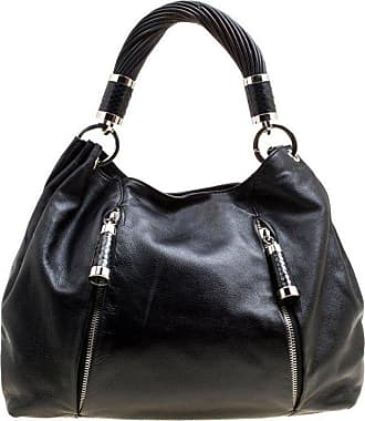 1e8282e711c 1stdibs Michael Kors Black Leather Twisted Handle Hobo