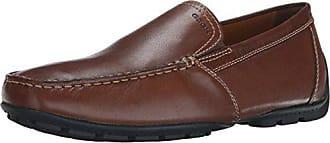Geox Mens Monet Plain Vamp Slip-On Loafer,Coffee,46 EU/12.5 M US