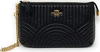 Coach WOMENS LARGE WRISTLET WITH ART DECO QUILTING F79934 Black Size: L