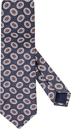 Altea Übergröße : Altea, Krawatte mit modischem Muster, Leinenmix in Marine für Herren