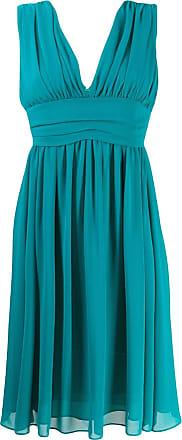 Blanca Vestido acinturado com franzido - Verde