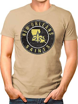 OM3 New-Orleans-Badge - T-Shirt | Mens | American Football Shirt | XL, Khaki