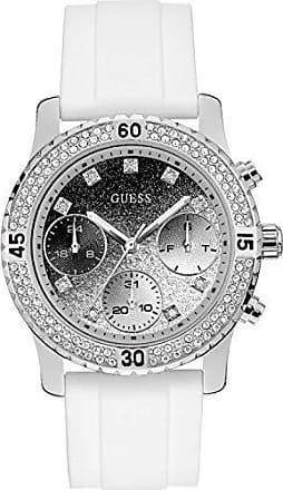 Guess Relógio Feminino Esportivo Guess Pulseira de Poliuretano Branco 92595L0GSNU8 Cronógrafo, Mostrador Degradée