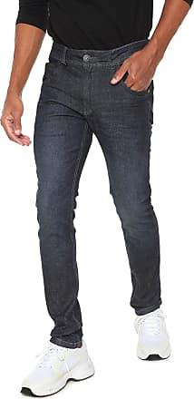 Zune Jeans Calça Jeans Zune Reta Pespontos Azul-marinho