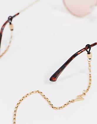 Icon Brand Catena per occhiali da sole oro con ciondoli con fulmine
