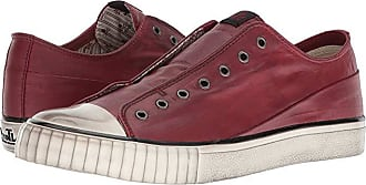 John Varvatos Laceless Low Top (Poppy) Mens Lace up casual Shoes