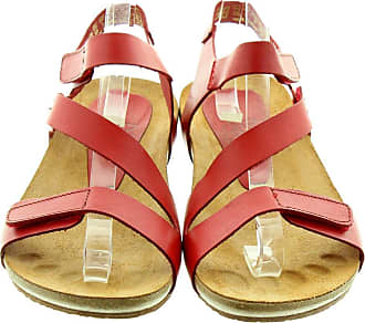 03f83bd2a43 Yokono Ladies Ibiza102 Sandals In Red