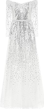 Marchesa Exclusive to Mytheresa - Off-the-shoulder sequined gown