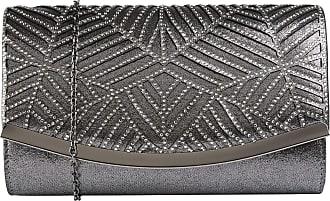 Lotus Pewter & Diamante Nara Clutch Bag
