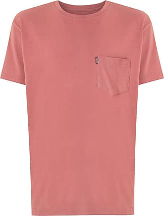 Osklen chest pocket Big Color T-shirt - PINK