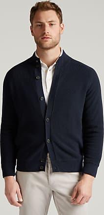 Hackett Mens Fleece-Lined Wool Cardigan | Medium | Navy