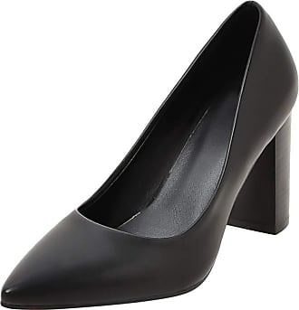 Yvelands Pumps Shoes for Women Elegant High Heel Mid Low Block Heel Slip On Pointed Toe Work Shoes for Office Ladies Party Evening Shoes Black