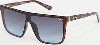 Quay Nightfall flatbrow visor sunglasses in tort-Brown