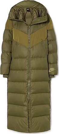 Nike Hooded Quilted Shell Down Coat - Army green