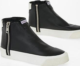 Diesel Leather ZIP-TURF S-QUEST Sneakers Größe 43