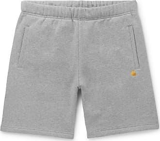 Carhartt Work in Progress Chase Mélange Fleece-back Cotton-blend Jersey Shorts - Gray