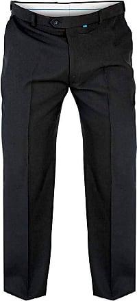 Duke London Duke D555 Mens King Size Big Tall Max Adjustable Waist Trousers 56 Inch Waist Regular Leg - Black