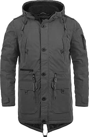 Solid Davido Mens Parka Outdoor Jacket Winter Coat with Teddy Fleece with Hood, Size:L, Colour:Dark Grey (2890)