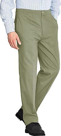 Generic Mens Rugby Trousers Full Elasticated Waist Office Work Smart Big Plus Size Pants[Olive,36 Waist 27 Leg]