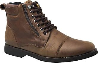 Doctor Shoes Antistaffa Coturno Masculino Gel Anatômico em Couro Café Graxo 8616 Doctor Shoes-Marrom-40