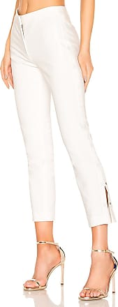 Tibi Anson Cropped Pant in White