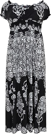 Yours Clothing clothing Plus Size Womens Paisley Print Gypsy Wrap Over Maxi Dress Size 18 Black