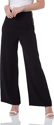 Roman Originals Women Popper Detail Ponte Trousers