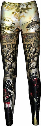 Insanity Zombies Blood Outbreak Cars Helicopter Flash Halloween Leggings (S)