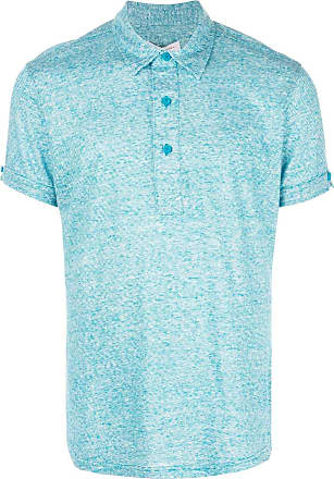 Orlebar Brown melange polo shirt - Azul