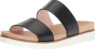Kensie Womens Dominic Slide Sandal, Black, 9.5 M US