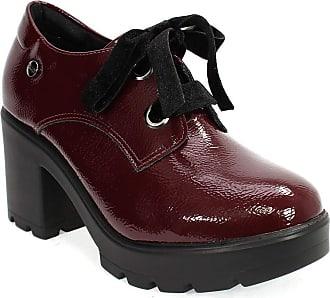 Quiz Sapato Feminino em Verniz Salto Tratorado Quiz Bordô 38