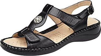 Boulevard Ladies Touch Fastening Halter Back Sandals with Leather Lining Black size 5 UK