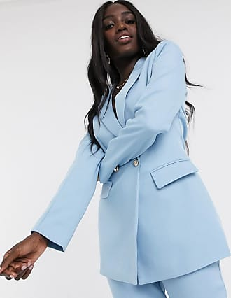 In The Style x Laura Jade - Zweireihiger Tailored Fit Blazer in Blau, Kombiteil