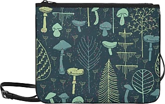 Yushg Shoulder Bag Fashion Cartoon Mushroom Mountain Forest Adjustable Shoulder Strap Casual Clutch Bag For Women Girls Ladies Travel Shoulder Bag Sturday H