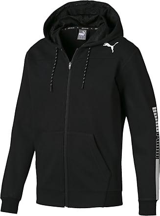 Schwarzer Puma Hoodie mit Zipper und Kaputze