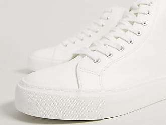 Topman chunky high top trainers in white