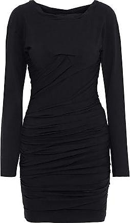 bcf076b5fd1 Alexander Wang Alexander Wang Woman Ruched Stretch-cotton Jersey Mini Dress  Black Size 10