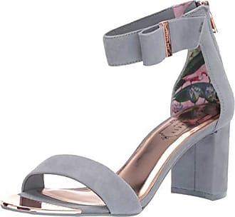 Ted Baker Womens KATRYNE Heeled Sandal, Slate Grey Suede, 5.5 M US