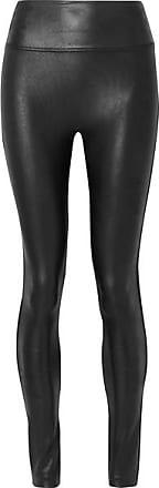 Spanx Faux Stretch-leather Leggings - Black