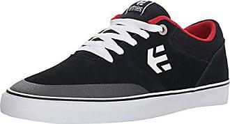 8676643dff758b Etnies Mens Marana Vulc Skate Shoe Navy White red 7 Medium US