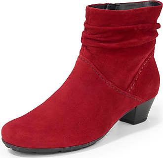 Gabor Ankle boots gathered shaft Gabor red