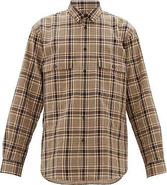 Raey Chest-pocket Checked Cotton-blend Shirt - Mens - Brown Multi