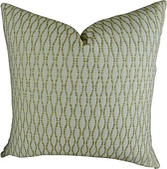 Plutus Brands Plutus Winding Road Zest Handmade Throw Pillow 24 x 24 Cream/Gold