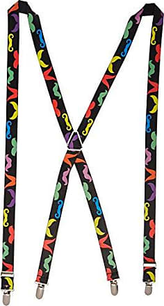 Buckle Down Buckle-Down Mens Suspender-Mustaches, Multicolor, One Size